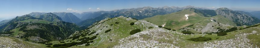 Retezat mountains-panoramic view Royalty Free Stock Image