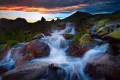 Retezat sunset Stock Images