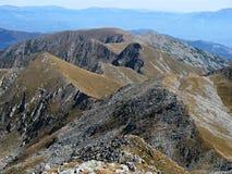 Retezatbergen in Roemenië - een ruwe bergrand Stock Fotografie