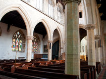 Retford Church internal view Stock Photography