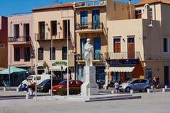 Rethymno, Κρήτη, Ελλάδα, στις 9 Σεπτεμβρίου 2017: Άποψη του μνημείου στον άγνωστο στρατιώτη Στοκ φωτογραφία με δικαίωμα ελεύθερης χρήσης