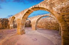 Городок Rethymno в острове Крита, Греции стоковое изображение
