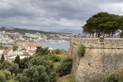 Городской город Rethymno ландшафта, остров Крит, Греция стоковые изображения