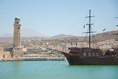 Rethymno bay. Crete. Royalty Free Stock Images