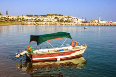 Rethymno bay. Bay Rethymno Crete Isaland Greece Stock Image