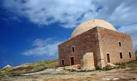 Rethymno citadel. In crete island Stock Photography