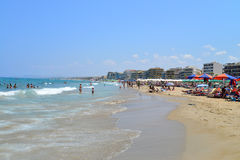 Rethymno city beach editorial Stock Images