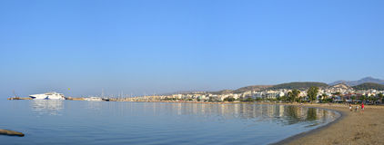Rethymno city beach editorial Royalty Free Stock Images