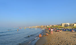 Rethymno city beach editorial Stock Photo
