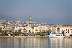Rethymno city coastline Stock Image