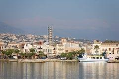 Rethymno city coastline Stock Image