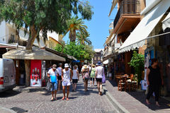 Rethymno city editorial Royalty Free Stock Image