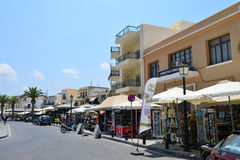 Rethymno city editorial Stock Photos