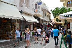 Rethymno city editorial Royalty Free Stock Images