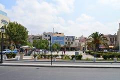Rethymno city editorial Stock Image