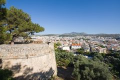 Rethymno city and fortress Royalty Free Stock Images