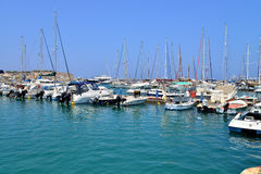 Rethymno city harbour Stock Photography