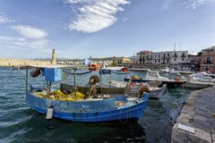 Rethymno Venetian era harbor Royalty Free Stock Photography
