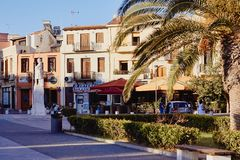 Rethymno, Crete, Greece, September 9, 2017: View of the Monument to the unknown soldier stock photography