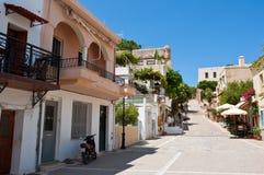 RETHYMNO, CRETE-JULY 23: Szczegół stary miasteczko w Rethymno mieście na Lipu 23,2014 na Crete wyspie, Grecja Fotografia Stock