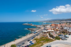 Rethymno from Fortezza on Crete island. Greece. Royalty Free Stock Photos