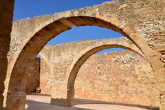 Rethymno Fortezza fortress arcade Royalty Free Stock Images