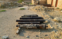 Rethymno Fortezza fortress cannons Stock Photos