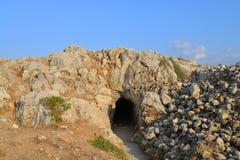 Rethymno Fortezza fortress cave Stock Photo