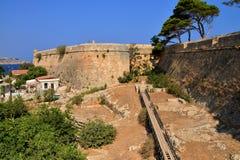 Rethymno Fortezza fortress Royalty Free Stock Photo