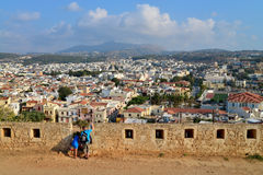 Rethymno Fortezza fortress city view Stock Photos