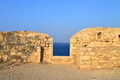 Rethymno Fortezza fortress detail Stock Photography