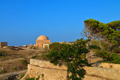 Rethymno Fortezza fortress Mosque Stock Image