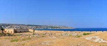 Rethymno Fortezza fortress panorama Stock Photo