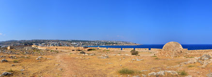 Rethymno Fortezza fortress panorama Stock Images