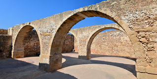 Rethymno Fortezza fortress ruins Stock Images