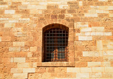 Rethymno Fortezza fortress window Stock Images