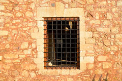 Rethymno Fortezza fortress window Royalty Free Stock Image