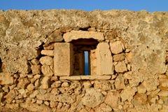 Rethymno Fortezza fortress window Stock Image