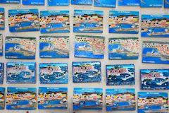 Rethymno fridge magnets, Crete. Stock Photo