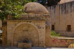 Rethymno, Grèce - 1er août 2016 : Kara Musa Pasha Mosque Image libre de droits