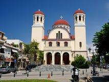RETHYMNO, GRÈCE - 7 JUILLET : Église de quatre martyres Photographie stock