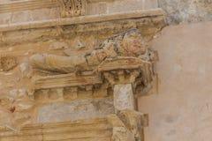 Rethymno, Grèce - 28 juillet 2016 : Bas-relief antique Photos stock
