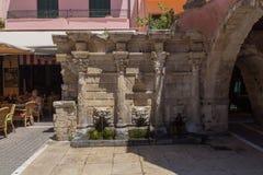 Rethymno, Grèce 26 juillet 2016 : La fontaine de Rimondi Photos stock
