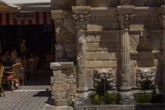 Rethymno, Grèce 26 juillet 2016 : La fontaine de Rimondi Photos libres de droits
