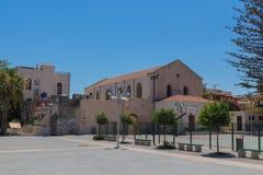 Rethymno, Grèce 26 juillet 2016 : Place de Mikrasiaton Images libres de droits