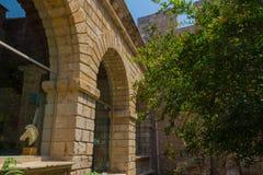 0Rethymno, Grécia - 3 de agosto de 2016: Museu arqueológico do re Fotos de Stock