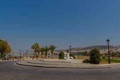 Rethymno, Grecia - 2 agosto 2016: Vecchio ha veneziano vicino quadrato Fotografia Stock