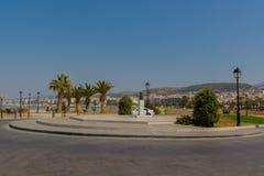 Rethymno, Grecia - 2 agosto 2016: Vecchio ha veneziano vicino quadrato Immagine Stock