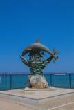 Rethymno Grecja, Sierpień, - 1, 2016: Symbol Rethymno statua Zdjęcie Stock