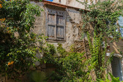 Rethymno, Greece - August  4, 2016:  Ancient building and trees. Stock Photography